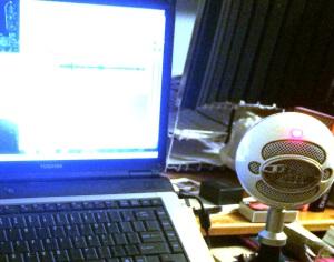 Feb Cabin audio setup light