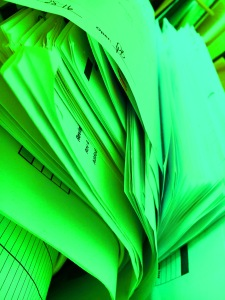 green-paper-file