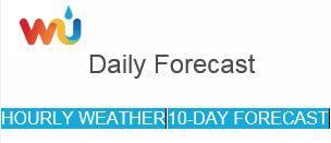 WU Forecast